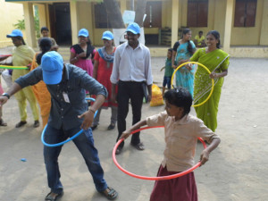 A Child Learns To Hulahoop