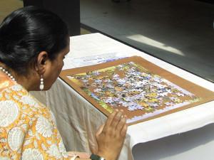 Aishwarya Assembles 300 Piece Puzzle