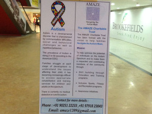 Brookefields Mall Standee For Autism Awareness