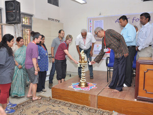 Inauguration By The Facilitators And Rotary President Mr Maruthi