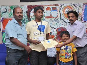 Participant Gets Certificate From DDAWO Mr Chandrashekar