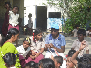 The Children Interact With Our Students