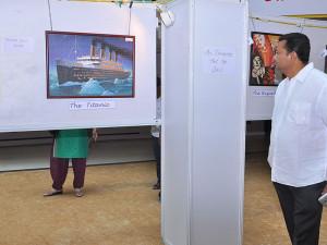 Rotary President Mr Maruthi Admires Aishwaryas Titanic